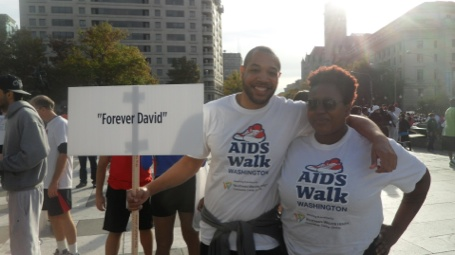 My best friend Joel, and I getting ready to walk for Team 'Forever David'